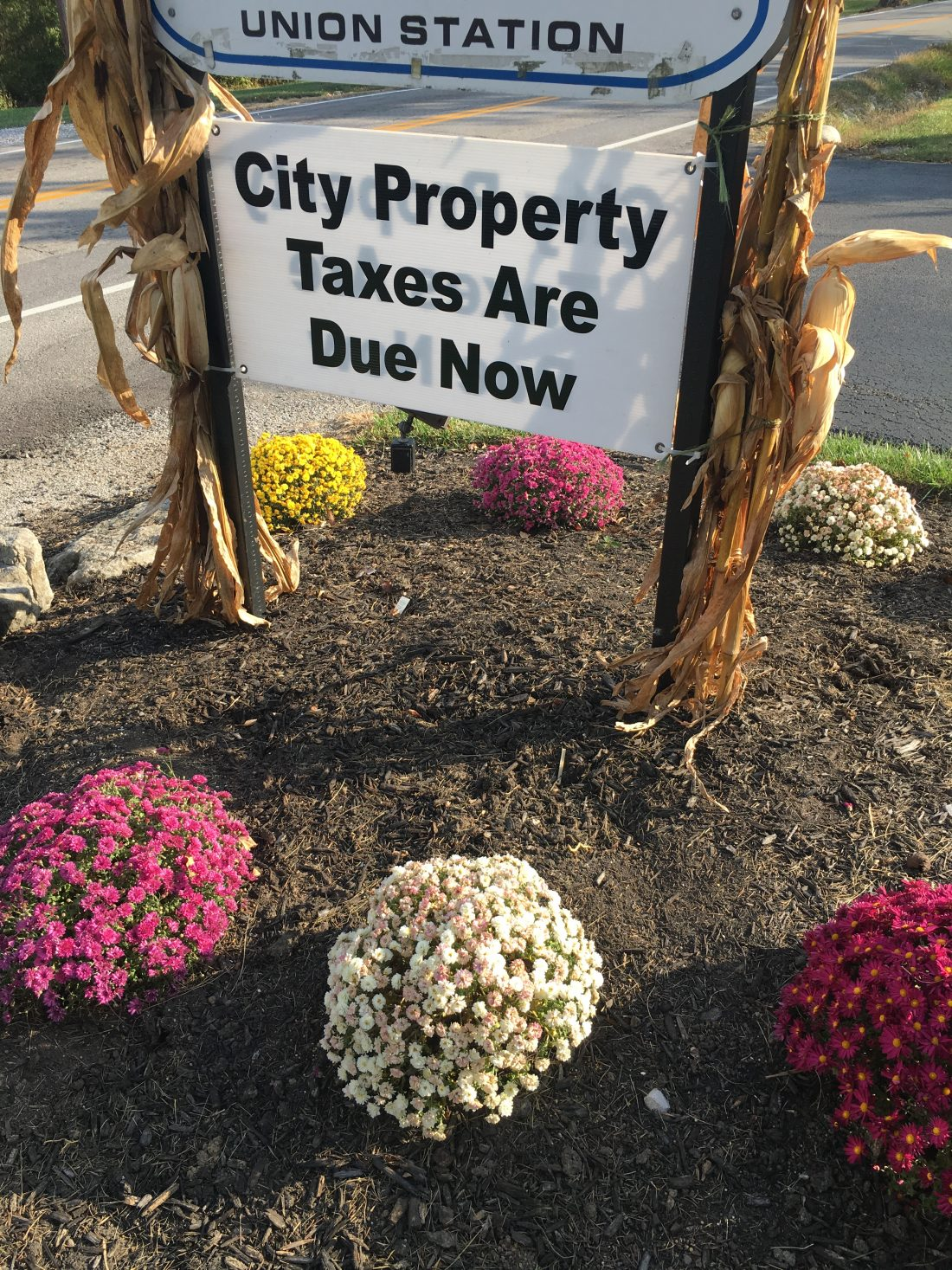 photo of the city tax sign