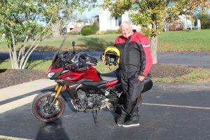 Mayor Solomon and his motorcycle